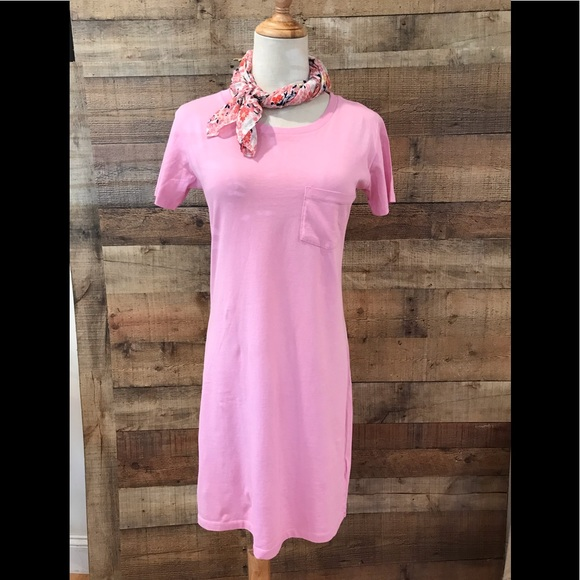 J. Crew Dresses & Skirts - J. Crew Pink T-Shirt Dress Short Sleeves NEW